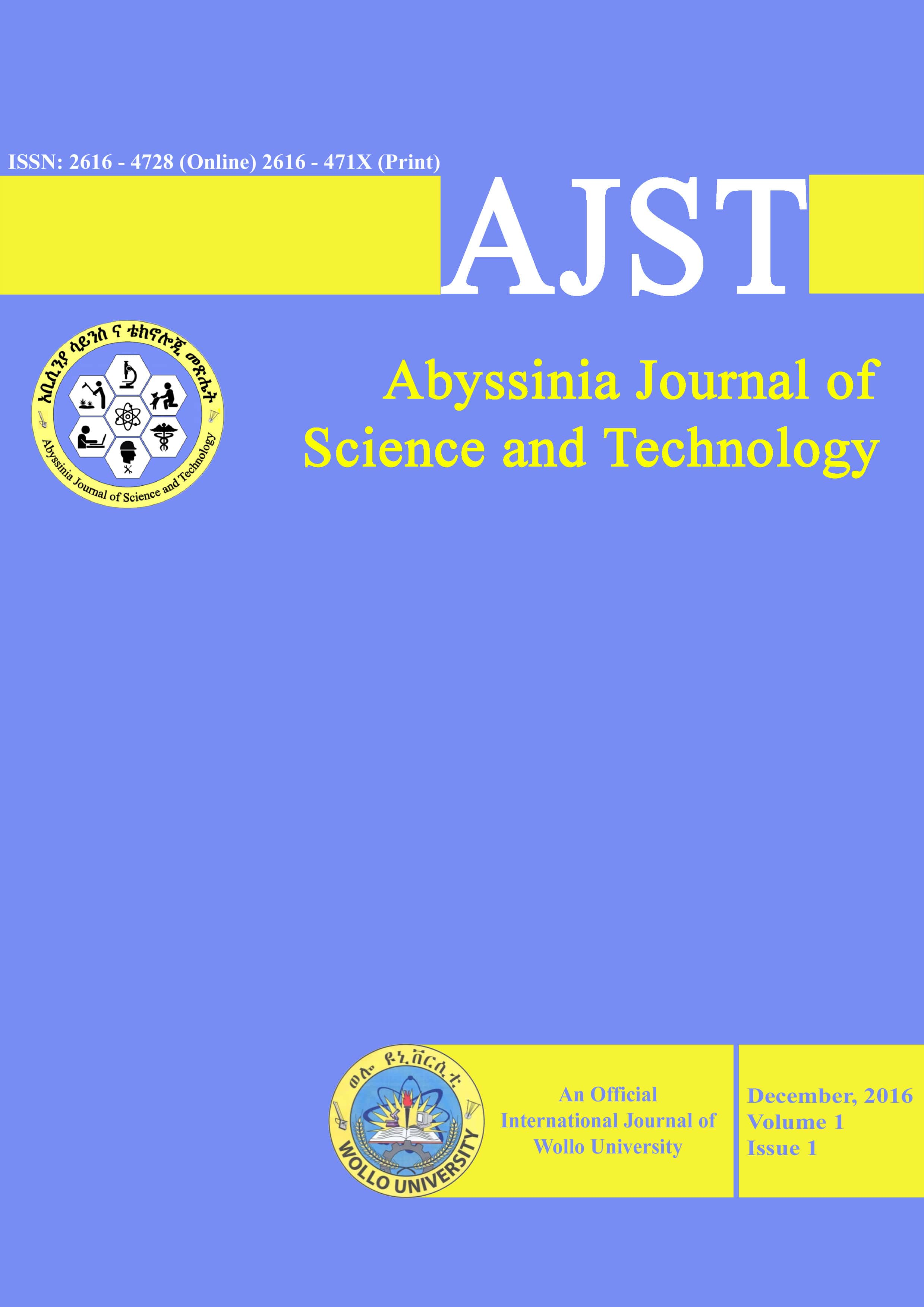 Abyssinia Journal of Science and Technology